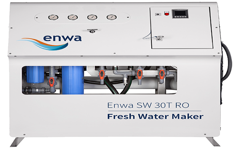 RO - reverse osmosis: fresh water from sea water